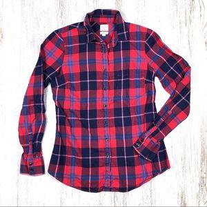 J.Crew Perfect Fit Flannel Shirt Plaid XS